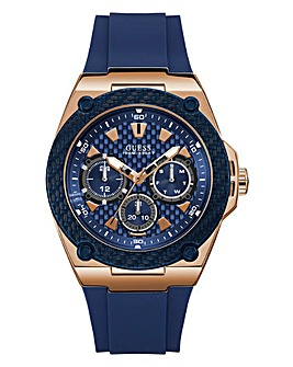 Guess Mens Legacy Navy/Rose Chrono