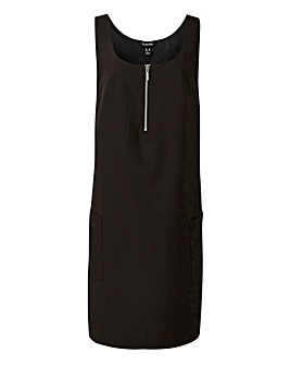 Tailored Pinafore Dress
