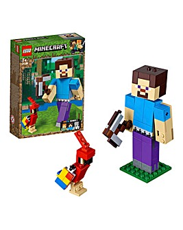LEGO Minecraft Steve BigFig with Parrot