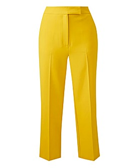 Statement Yellow Tapered Leg Trousers