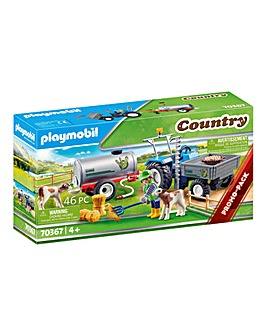 Playmobil 70367 Country Loading Tractor with Water Tank
