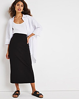 Tailored Black Maxi Skirt