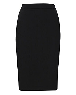Tailored Black Pencil Skirt