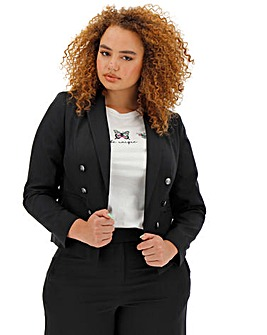 Mix and Match Black Cropped Blazer