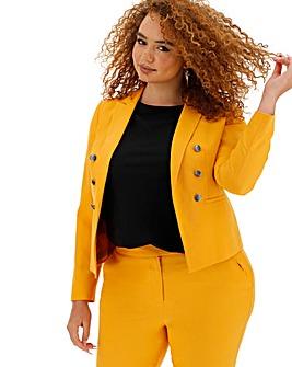 Mix and Match Mustard Cropped Blazer