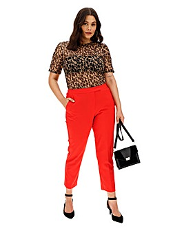 Mix and Match Red Tapered Leg Trousers