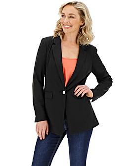 Black Stretch Jersey Blazer