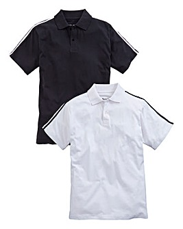 Capsule Pack of Two Black/White Polo Shirts