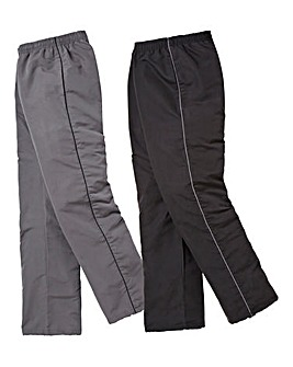 Pack Of 2 Woven Pants 27in Leg