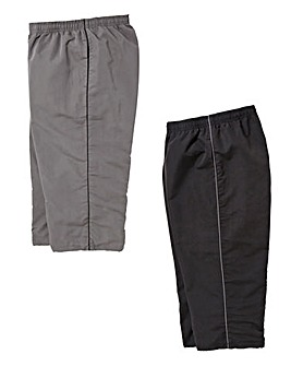 Capsule Pack of Two Charcoal/Black 3/4 Length Joggers