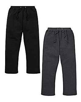 Capsule Pack of 2 Open Hem Joggers 27in