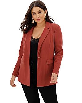 Rust Soft Jersey Blazer