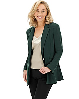 Green Soft Ponte Blazer