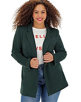 Green Soft Jersey Blazer