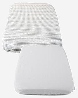 Chicco Next2Me Crib Sheet 2 Piece Set - Air