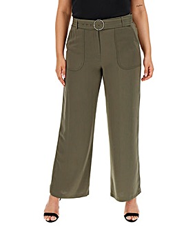 Wide Leg Utility Trousers