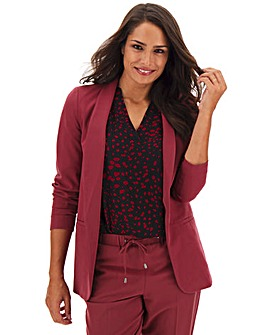 Pink Shawl Collar Fashion Blazer