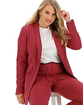 Pink Shawl Collar Fashion Blazer