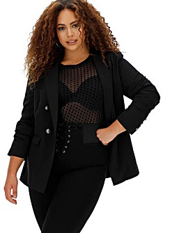 Premium Stretch Black Trophy Blazer