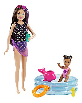 Barbie Skipper Babysitter Playset - Pool & Toddler