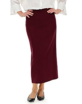 Tailored Berry Maxi Skirt