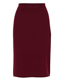 Tailored Berry Pencil Skirt