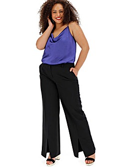 Wide Leg Trousers with Split Hems