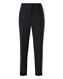 Stepped Hem Tapered Trouser