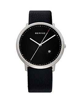 Bering Gents Black Dial Strap Watch