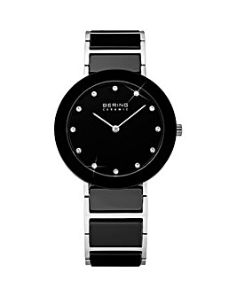 Bering Ladies Black & Stainless Steel Bracelet Watch
