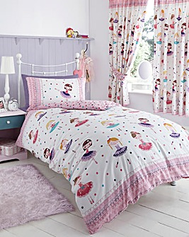 Ballerina Single Duvet Cover Set