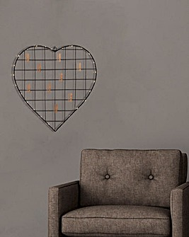 LED Heart Wire Frame Wall Hanging (Battery Powered)