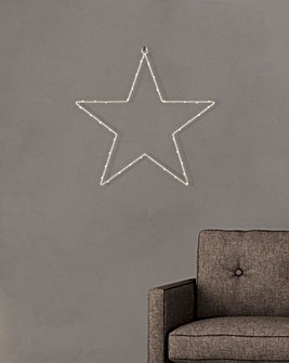 LED Star Shape Wall Hanging (Battery Powered)