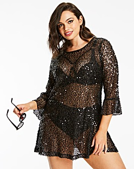 Figleaves Curve Sequin Low Back Cover Up