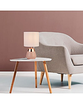 Blush Pink and Copper Table Lamp