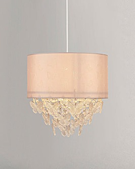 Pendant Shade with Acrylic Butterfly Drops