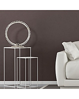 LED Hoop Table Lamp with Clear Glass