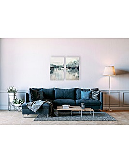 Set of 2 Abstract Canvases