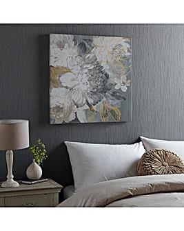 Floral Posy Printed Canvas