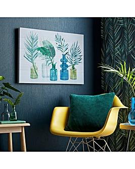 Tropical Palm Bottles Canvas