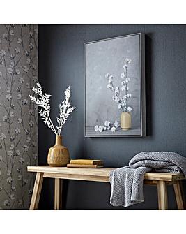 Cotton Flower Sprigs Framed Canvas
