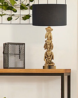 Stacked Monkey Table Lamp