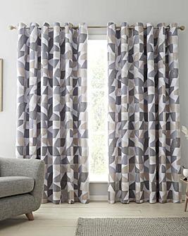 Catherine Lansfield Oslo Geo Eyelet Curtains