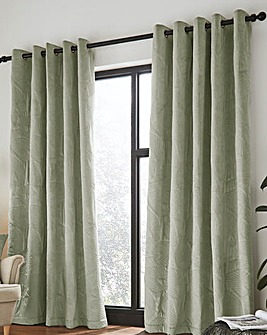 Catherine Lansfield Pinsonic Leaf Eyelet Curtains