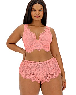 Figleaves Curve Adore Apricot Lace High Apex Full Cup Bra