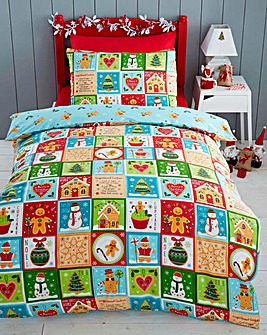 Jolly Gingerbread Single Duvet Cover Set