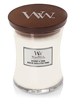 Woodwick Medium Hourglass Coconut Tonka