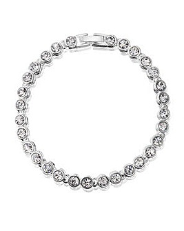 Jon Richard Silver Plated Crystal Tennis Bracelet