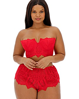Figleaves Curve Adore Red Lace Padded Multiway Bra