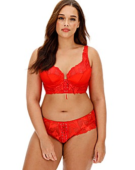 Figleaves Curve Spellbound Red Midi Underwired Bra